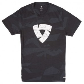 Revit T-Shirt Chester Camo Black-Grey